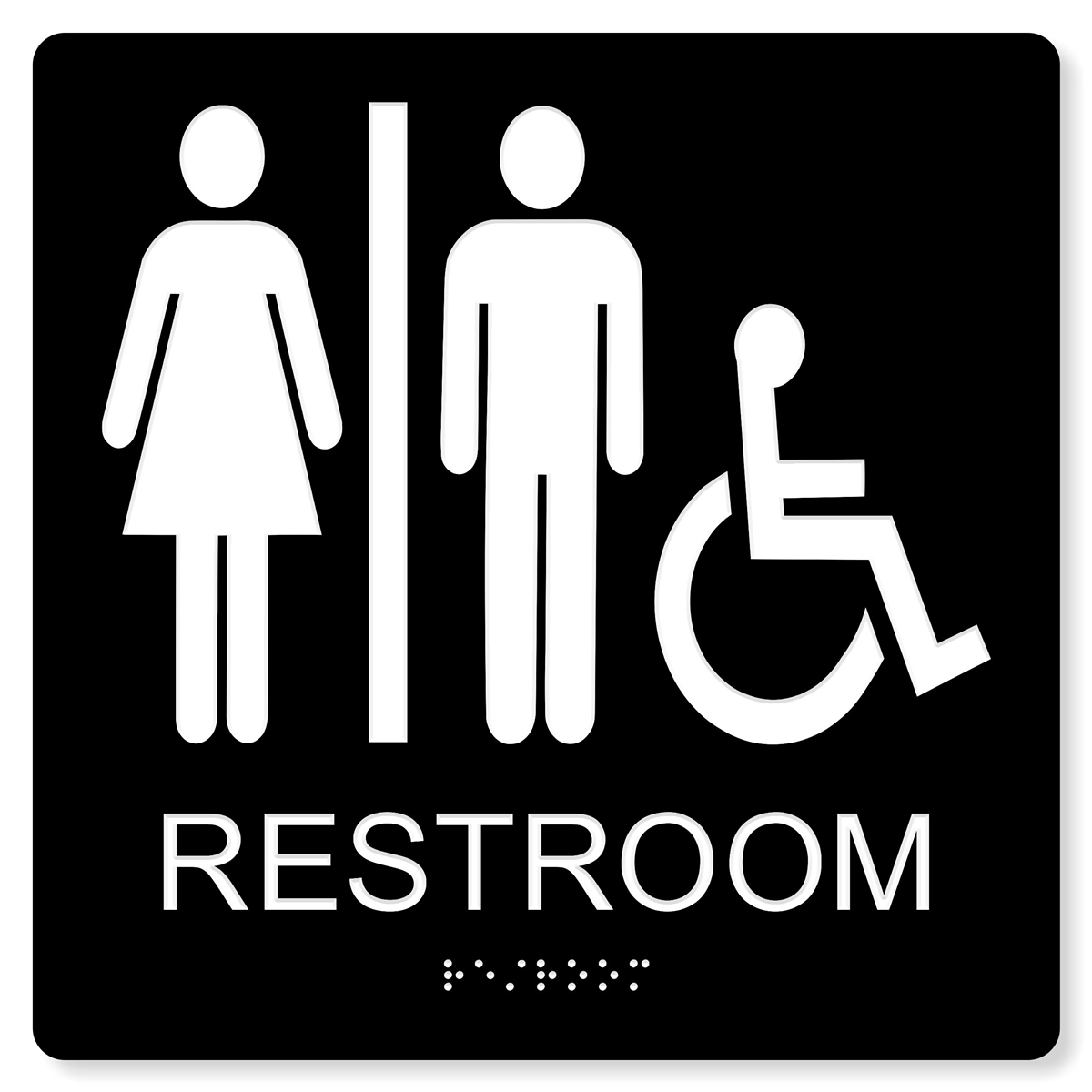 ADA Accessible Unisex Restroom Sign