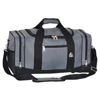 #020-DARK GRAY Wholesale 20-inch Duffel Bag - Case of 20 Duffel Bags