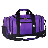 #020-DARK PURPLE Wholesale 20-inch Duffel Bag - Case of 20 Duffel Bags
