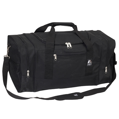 #025-BLACK Wholesale 25-inch Duffel Bag - Case of 20 Duffel Bags