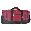#025-BURGUNDY Wholesale 25-inch Duffel Bag - Case of 20 Duffel Bags