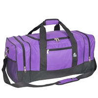 #025-DARK PURPLE Wholesale 25-inch Duffel Bag - Case of 20 Duffel Bags