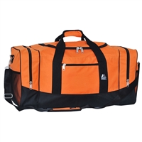 #025-ORANGE Wholesale 25-inch Duffel Bag - Case of 20 Duffel Bags