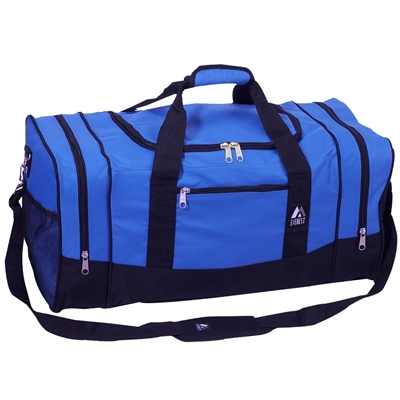 #025-ROYAL BLUE Wholesale 25-inch Duffel Bag - Case of 20 Duffel Bags
