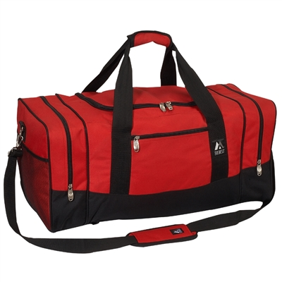 #025-RED Wholesale 25-inch Duffel Bag - Case of 20 Duffel Bags
