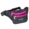 #044KD-BLACK/HOT PINK Wholesale Waist Pack - Standard - Case of 50 Waist Packs