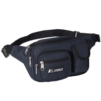 #044MDH-NAVY Wholesale Multiple Pocket Waist Pack - Case of 50