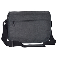 #059LT-CHARCOAL Wholesale Laptop Messenger Briefcase - Case of 20 Briefcases