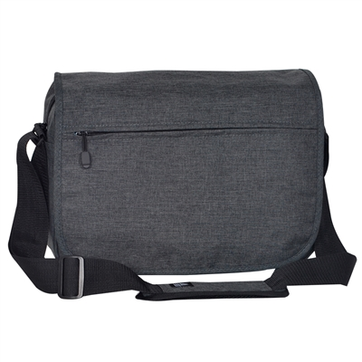#059LT-CHARCOAL Wholesale Laptop Messenger Briefcase - Case of 20