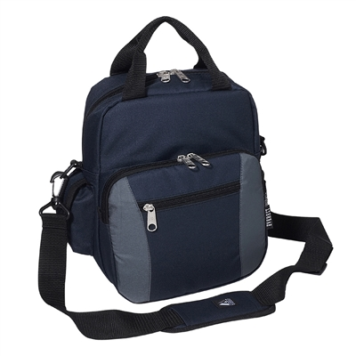 #067-NAVY/CHARCOAL Wholesale Deluxe Utility Bag - Case of 30 Utility Bags
