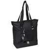 #1002DLX-BLACK Wholesale Deluxe Sporting Tote Bag - Case of 30 Tote Bags