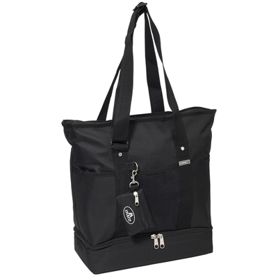 #1002DLX-BLACK Wholesale Deluxe Sporting Tote - Case of 30