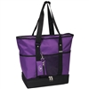 #1002DLX-DARK PURPLE Wholesale Deluxe Sporting Tote Bag - Case of 30 Tote Bags