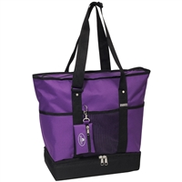 #1002DLX-DARK PURPLE Wholesale Deluxe Sporting Tote - Case of 30