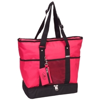 #1002DLX-HOT PINK Wholesale Deluxe Sporting Tote - Case of 30