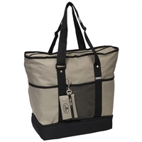 #1002DLX-KHAKI Wholesale Deluxe Sporting Tote - Case of 30