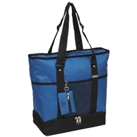 #1002DLX-ROYAL BLUE Wholesale Deluxe Sporting Tote Bag - Case of 30 Tote Bags