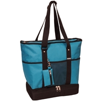 #1002DLX-TURQUOISE Wholesale Deluxe Sporting Tote Bag - Case of 30 Tote Bags