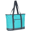 #1002DS-AQUA BLUE Wholesale Shopping Tote - Case of 40