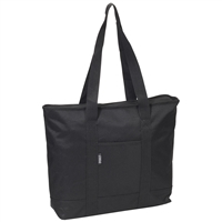 #1002DS-BLACK Wholesale Shopping Tote Bag - Case of 40 Tote Bags