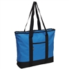 #1002DS-ROYAL BLUE Wholesale Shopping Tote Bag - Case of 40 Tote Bags
