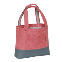 #1002TB-CORAL/GRAY Wholesale Stylish Tablet Tote Bag - Case of 30