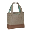 #1002TB-TAN/DARK BROWN Wholesale Stylish Tablet Tote Bag - Case of 30 Tote Bags