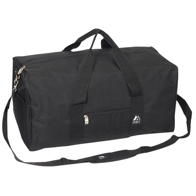 #1008MD-BLACK Wholesale 24-inch Duffel Bag - Case of 30 Duffel Bags