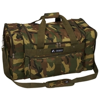 #1027-CAMO Wholesale 27-inch Woodland Camo Duffel Bag - Case of 10 Duffel Bags