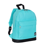 #10452-AQUA BLUE Wholesale Mini Kids Backpack - Case of 30 Backpacks