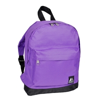 #10452-DARK PURPLE Wholesale Mini Kids Backpack - Case of 30 Backpacks