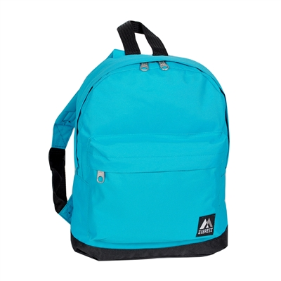 #10452-TURQUOISE Wholesale Mini Kids Backpack - Case of 30
