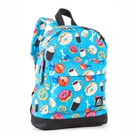 #10452P-DONUTS Wholesale Mini Kids Backpack - Case of 30 Backpacks