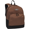#1045A-BROWN Wholesale Backpack with Front Organizer - Case of 30 Backpacks