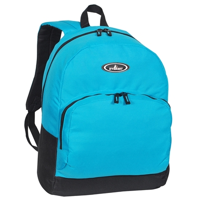 #1045A-TURQUOISE Wholesale Backpack with Front Organizer - Case of 30 Backpacks