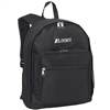 #1045BP-BLACK Wholesale Backpack with Side Mesh Pocket - Case of 30