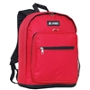 #1045BP-RED Wholesale Backpack with Side Mesh Pocket - Case of 30