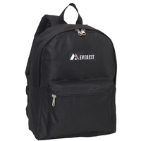#1045K-BLACK Wholesale Basic Backpack - Case of 30 Backpacks