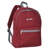 #1045K-BURGUNDY Wholesale Basic Backpack - Case of 30 Backpacks
