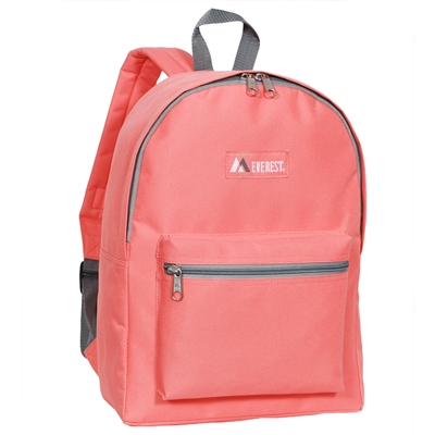 #1045K-CORAL Wholesale Basic Backpack - Case of 30 Backpacks