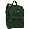 #1045K-DARK GREEN Wholesale Basic Backpack - Case of 30 Backpacks