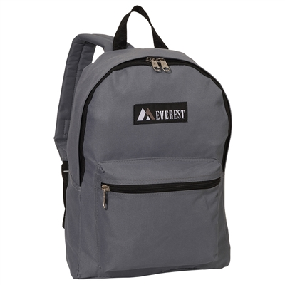 #1045K-DARK GRAY Wholesale Basic Backpack - Case of 30 Backpacks