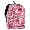#1045KP-BURGUNDY/WHITE IKAT Wholesale Basic Pattern Backpack - Case of 30