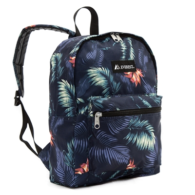 #1045KP-DARK TROPIC Wholesale Basic Pattern Backpack - Case of 30 Backpacks