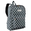 #1045KP-GRAY/WHITE DOT Wholesale Basic Pattern Backpack - Case of 30 Backpacks