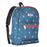 #1045KP-ANCHOR Wholesale Basic Pattern Backpack - Case of 30 Backpacks