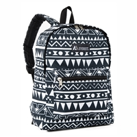 #1045KP-NAVY/WHITE ETHNIC Wholesale Basic Pattern Backpack - Case of 30 Backpacks