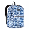 #1045KP-NAVY/WHITE IKAT Wholesale Basic Pattern Backpack - Case of 30 Backpacks