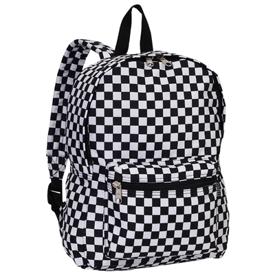 #1045KP-SQUARES Wholesale Basic Pattern Backpack - Case of 30 Backpacks