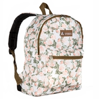 #1045KP-VINTAGE FLORAL Wholesale Basic Pattern Backpack - Case of 30 Backpacks